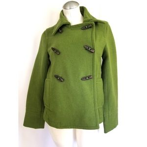 3/$25 Old Navy Size S Green Pea Coat Wool Blend
